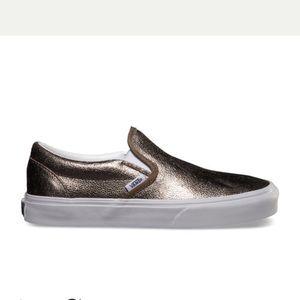 Vans Metallic Slip-On Bronze 6.5 EUC
